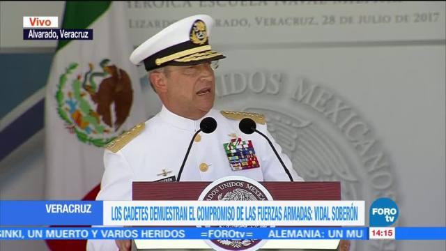 Vidal Soberon Enaltece Esfuerzo Marinos Durante Graduacion Cadetes
