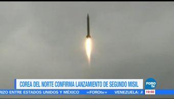 Gobierno Norcorea lanza dos misiles intercontinentales