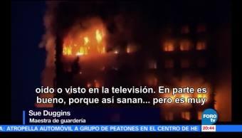 Niños afectados incendio torre departamentos Londres