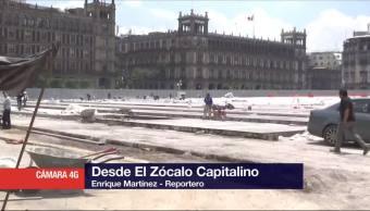 Continuan Trabajos Remodelacion Zocalo Cdmx Ciudad Mexico
