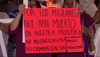 Realizan en Juárez vigilia migrantes muertos