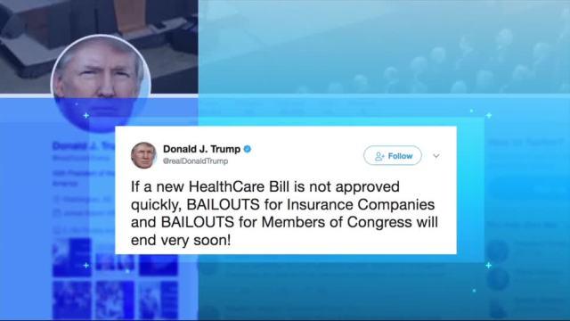 Trump amenaza eliminar pagos gubernamentales aseguradoras