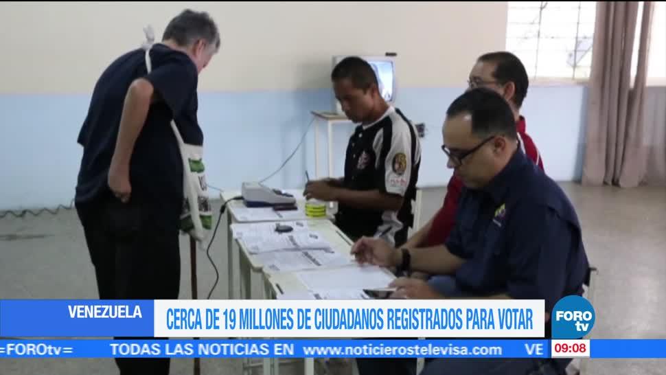 19 millones, venezolanos, registrados, votar