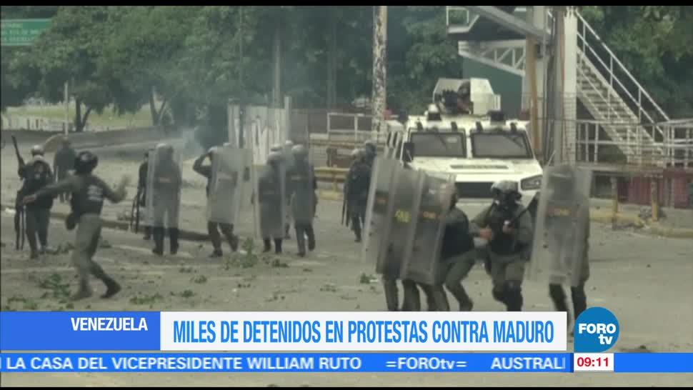Suman, 4 mil detenidos, Venezuela, protestas