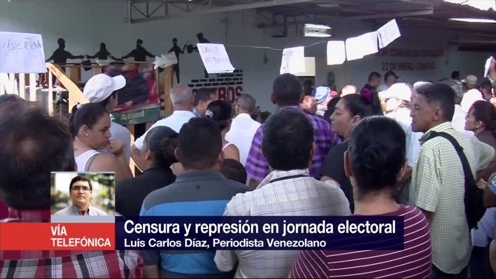 Censura Represion Durante Jornada Electoral Venezuela