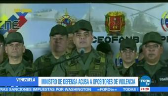 Ministro Defensa Venezuela acusa opositores violencia