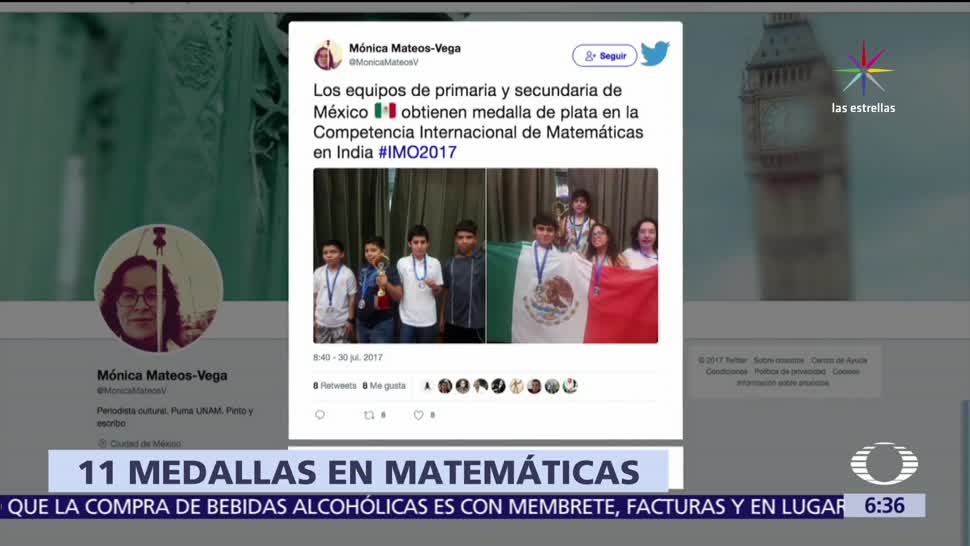 Estudiantes mexicanos, plata, competencia, matemáticas