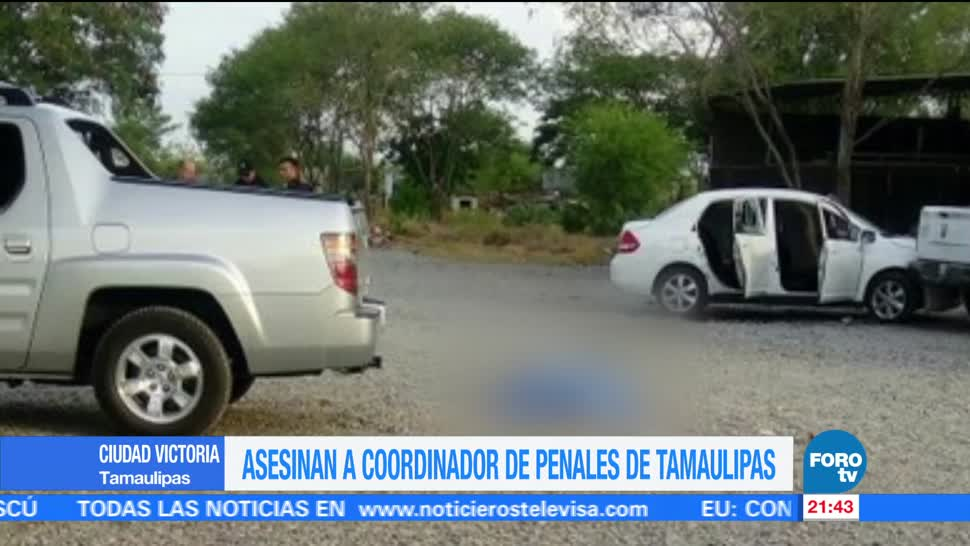 Asesinan Coordinador Penales Tamaulipas Felipe Tellez