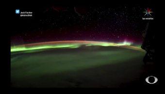 Aurora Boreal Desde Espacio Astronauta NASA
