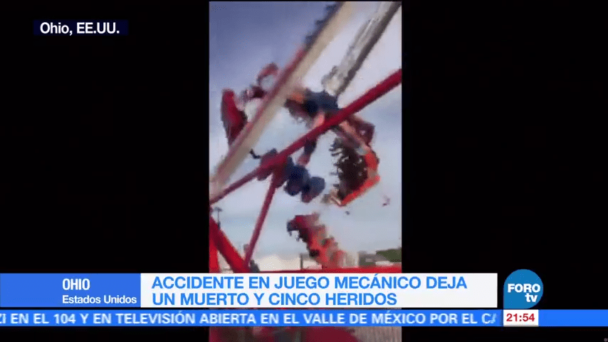 Accidente Juego Mecanico Ohio Video EU