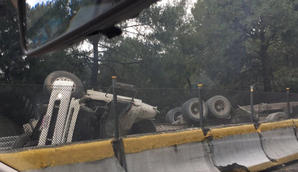 Accidente múltiple en la México- Cuernavaca. (Twitter David Martínez)