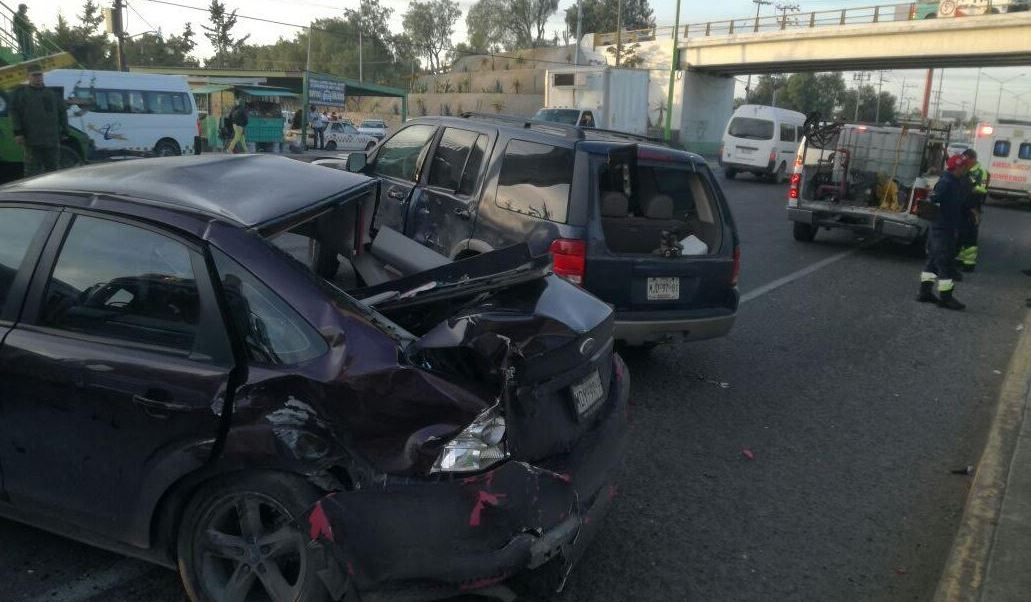 accidente vehicular en tecamac, estado de mexico