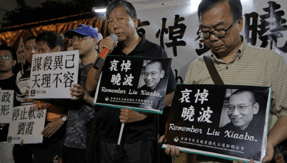 Activistas recuerdan a Liu Xiaobo en Hong Kong