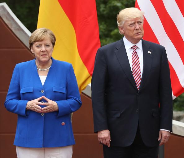Angela Merkel, canciller de Alemania, y Donald Trump, presidente de Estados Unidos