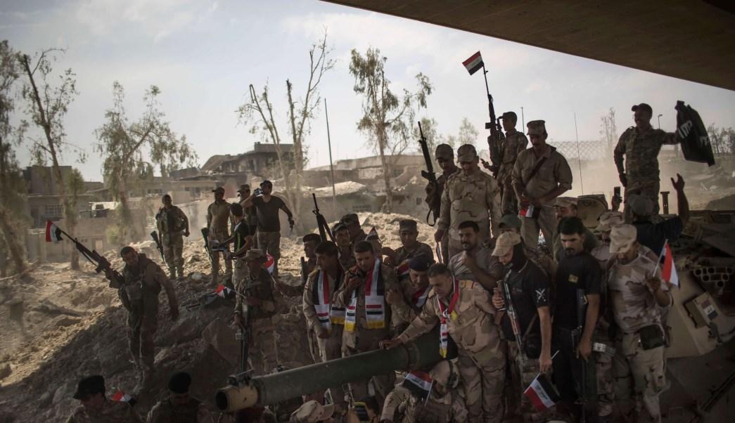 Soldados de Irak, ejército de Irak, Estado Islámico, Mosul, Irak