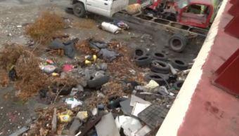 Arroyo de Monterrey se convierte en basurero
