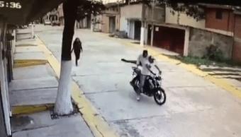 Asalto, Chimalhuacán, moto, robo, cámara, video