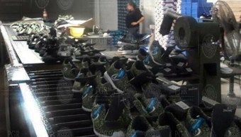 Asegura PGR calzado que ostenta falsificación de marca en Guanajuato