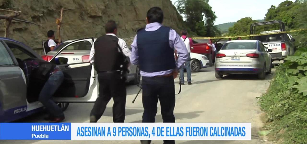 noticias, forotv, Asesinan, 9 personas, Huehuetlán, Puebla
