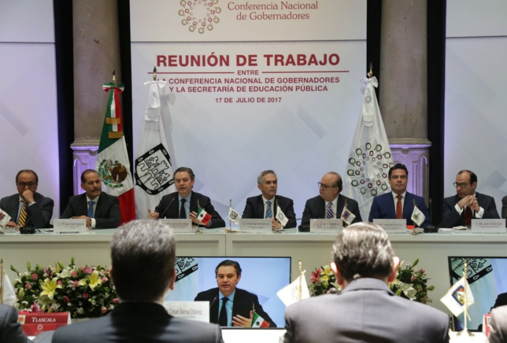 Reunión Conago SEP. (Twitter Gobierno de Hidalgo)