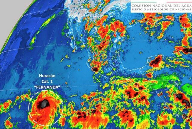 Clima, huracán, Fernanda, Pacifico, lluvias, México,