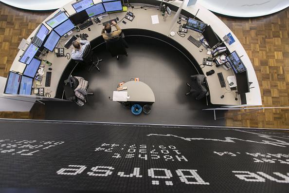 Piso de operaciones de la Bolsa de Frankfurt