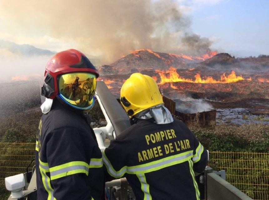 Ejercito franceses, Bomberos, Incendio Forestal, Córcega