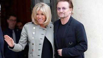 Cantante, Bono, U2, Brigitte Macron, Palacio Del Eliseo, Paris