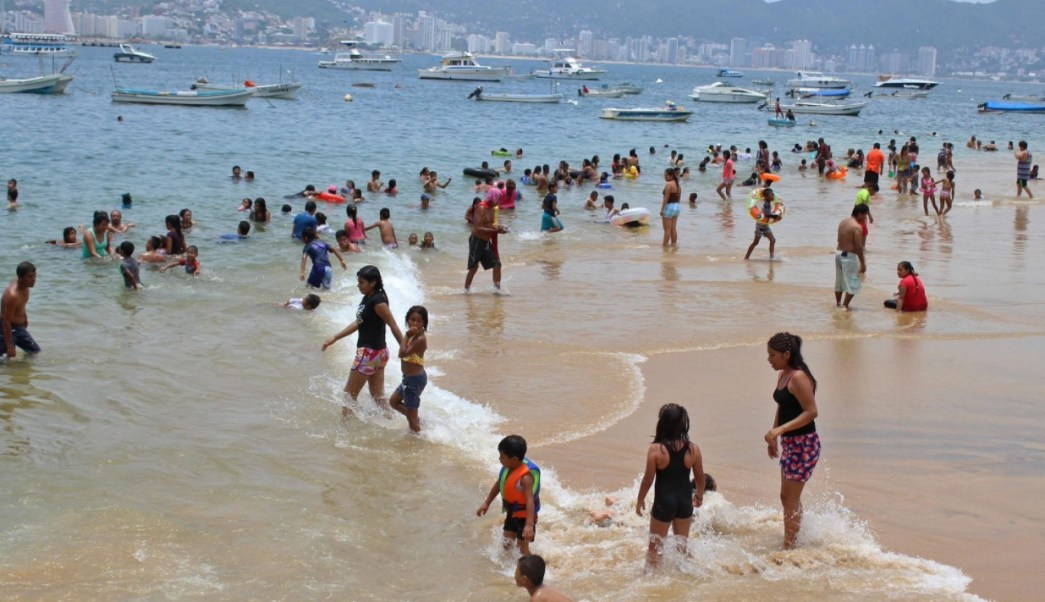 Acapulco resiente la canícula. (Twitter Gobierno de Acapulco)