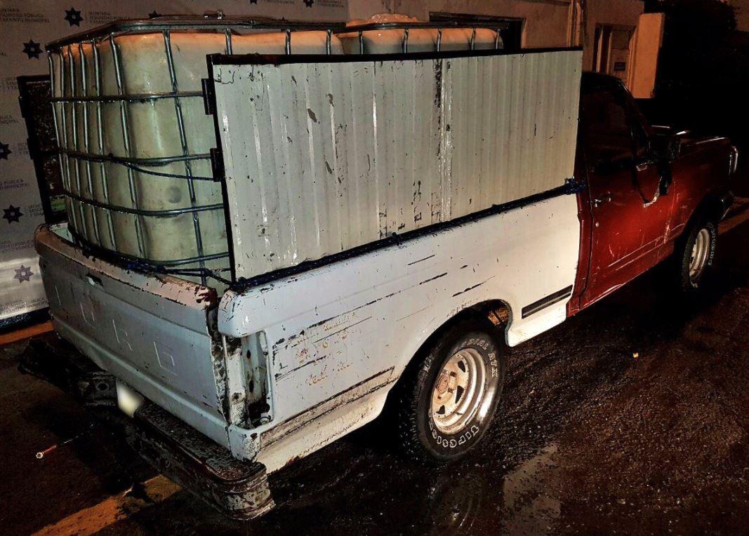 vehiculo en el que se transporta combustible ilicito