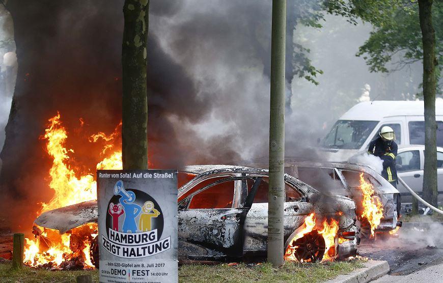 Protestas, Cumbre G20, Alemania, Hamburgo, Policia, Disturbios, Cumbre