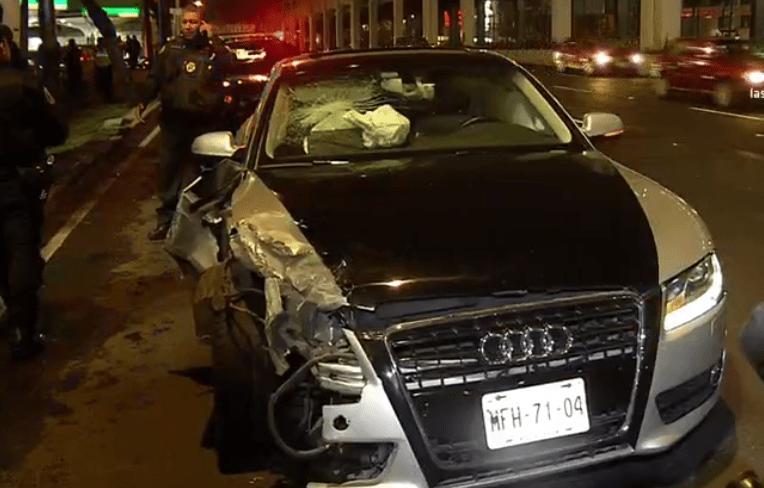 Choque de autos en calzada de Tlalpan y Metro Ermita, CDMX