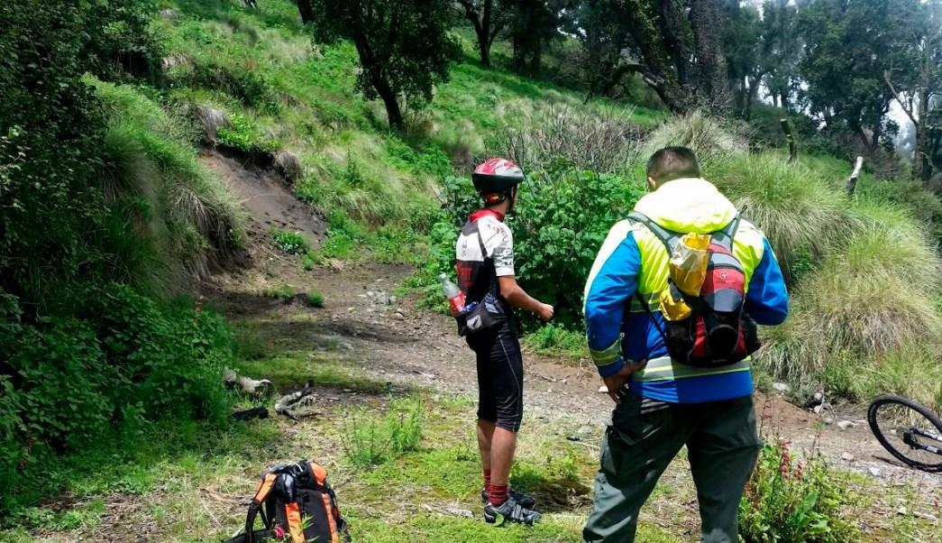 Ciclista, Rescate, Nevado De Colima, Colima, Seguridad,