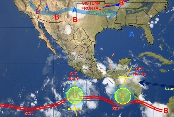Imagen de fenómenos meteorológicos (Twitter: @conagua_clima)