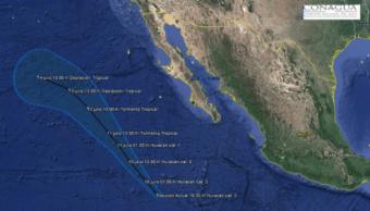 Baja california sur, Eugene, Huracan, Proteccion civil, Los cabos, Revillagigedo, Categoria 3