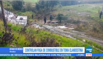 Controlan Fuga De Combustible, Aculco, Estado De Mexico, Toma Clandestina