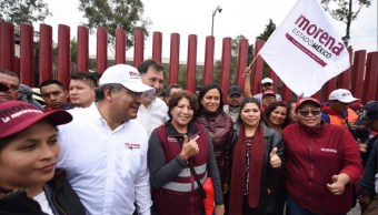 Marcha de Delfina Gómez llega a San Lázaro. (Twitter Delfina Gómez)