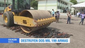 Destruyen Armas Elementos Sedena Aseguradas Sinaloa Durango