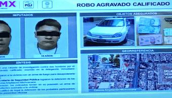 Detienen dos hombres robo cuentahabiente Cdmx