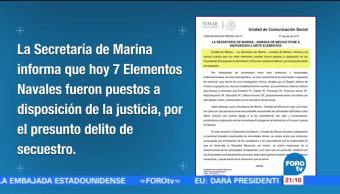 Detienen elementos Marina acusados de secuestro