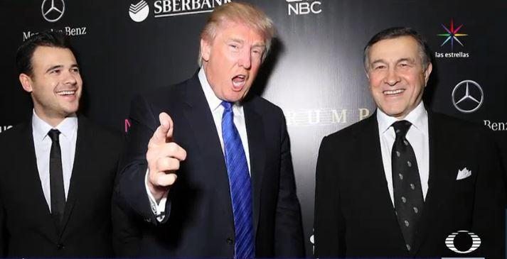 Donald Trump, Aras Agalarov y el cantante ruso Emin Agalarov