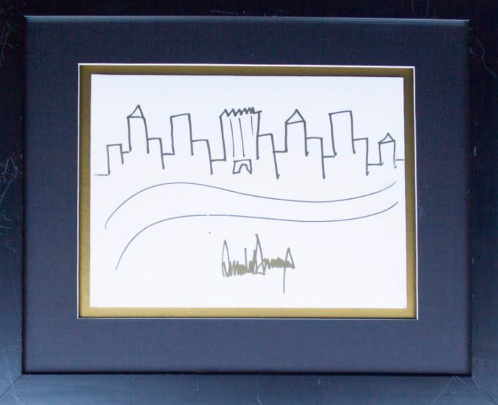 Dibujo Boceto Donald Trump Nueva York
