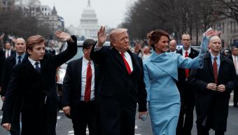 Donald Trump el dia que asumió la presidencia