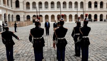 Donald Trump y Emmanuel Macron en Palacio Nacional de los Inválidos