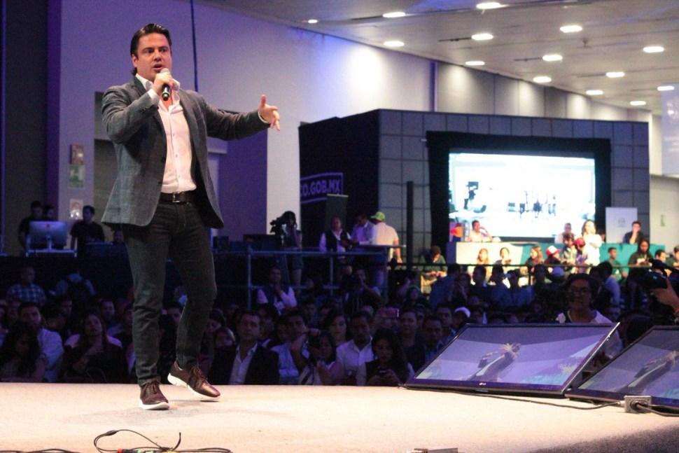 El gobernador de Jalisco, Aristóteles Sandoval, inaugura el Campus Party 2017