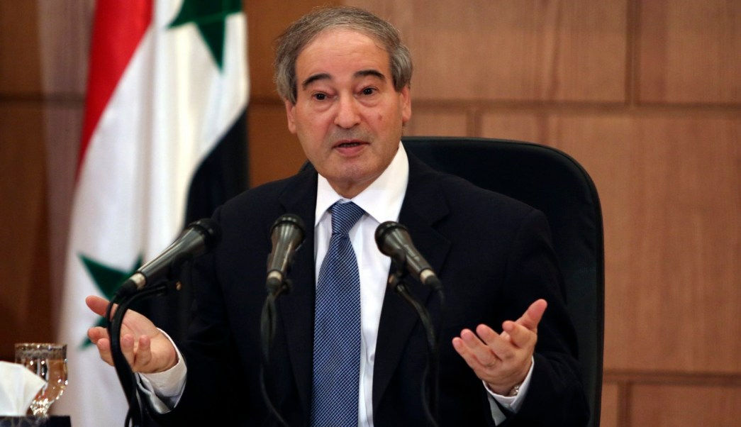 el viceministro sirio de asuntos exteriores, faisal miqdad