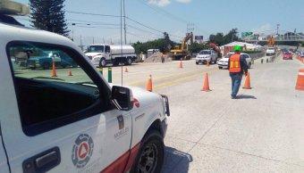 Elementos de Protección Civil de Morelos recorren socavon