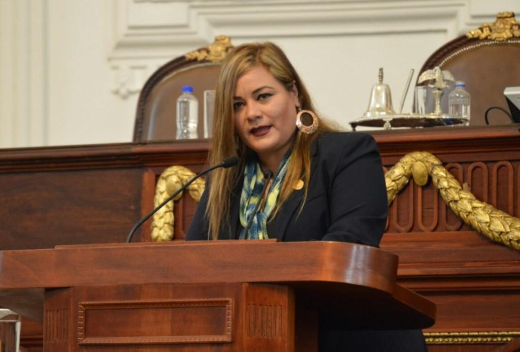 Elizabeth Mateos, , presidenta de la Comisión de Grupos Vulnerables. (Twitter PRD Asamblea)