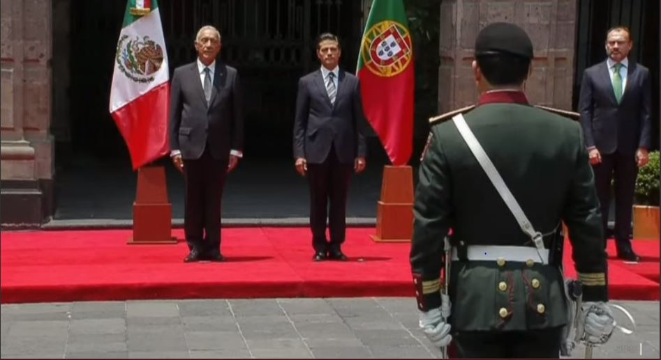 Presidente de Portugal visita México invitado por Peña Nieto