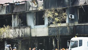 Explosion, Hangzhou, China, dos muertos, 55 heridos, gas, explosión